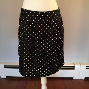 Merona black and white polka dot skirt
